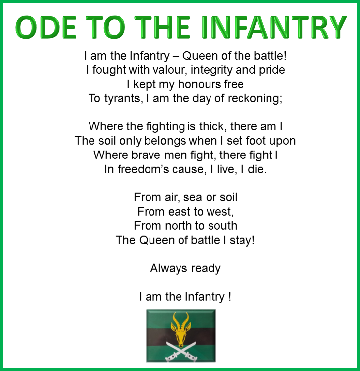 Ode to the Infantry